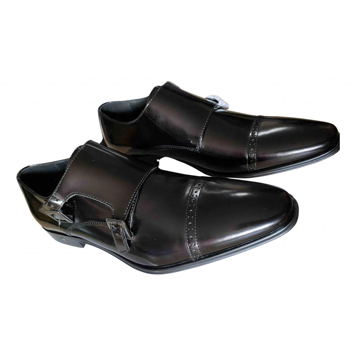 Versace \N Black Leather Lace ups for Men 43 EU