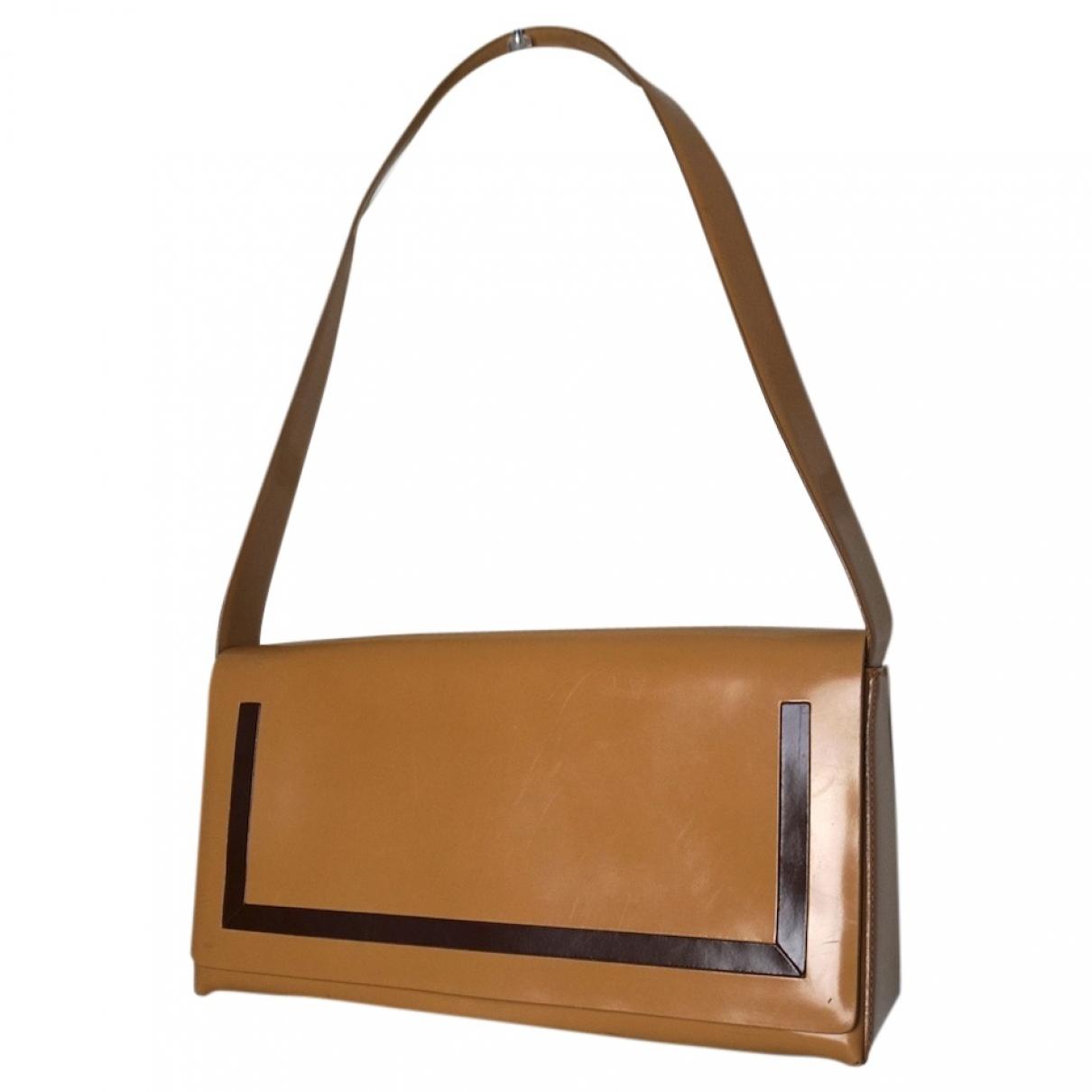 Coccinelle \N Handtasche in  Beige Leder
