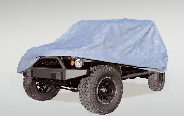 Rugged Ridge 13321.7 Car Cover, Full, Heavy Duty; 55-06 Jeep CJ/Wrangler YJ/TJ Jeep