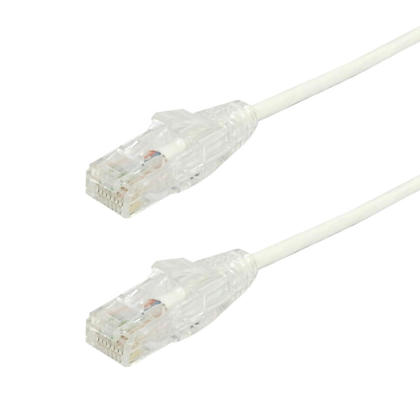 Cat6 UTP Ultra-Thin Patch Cable - White - 8ft