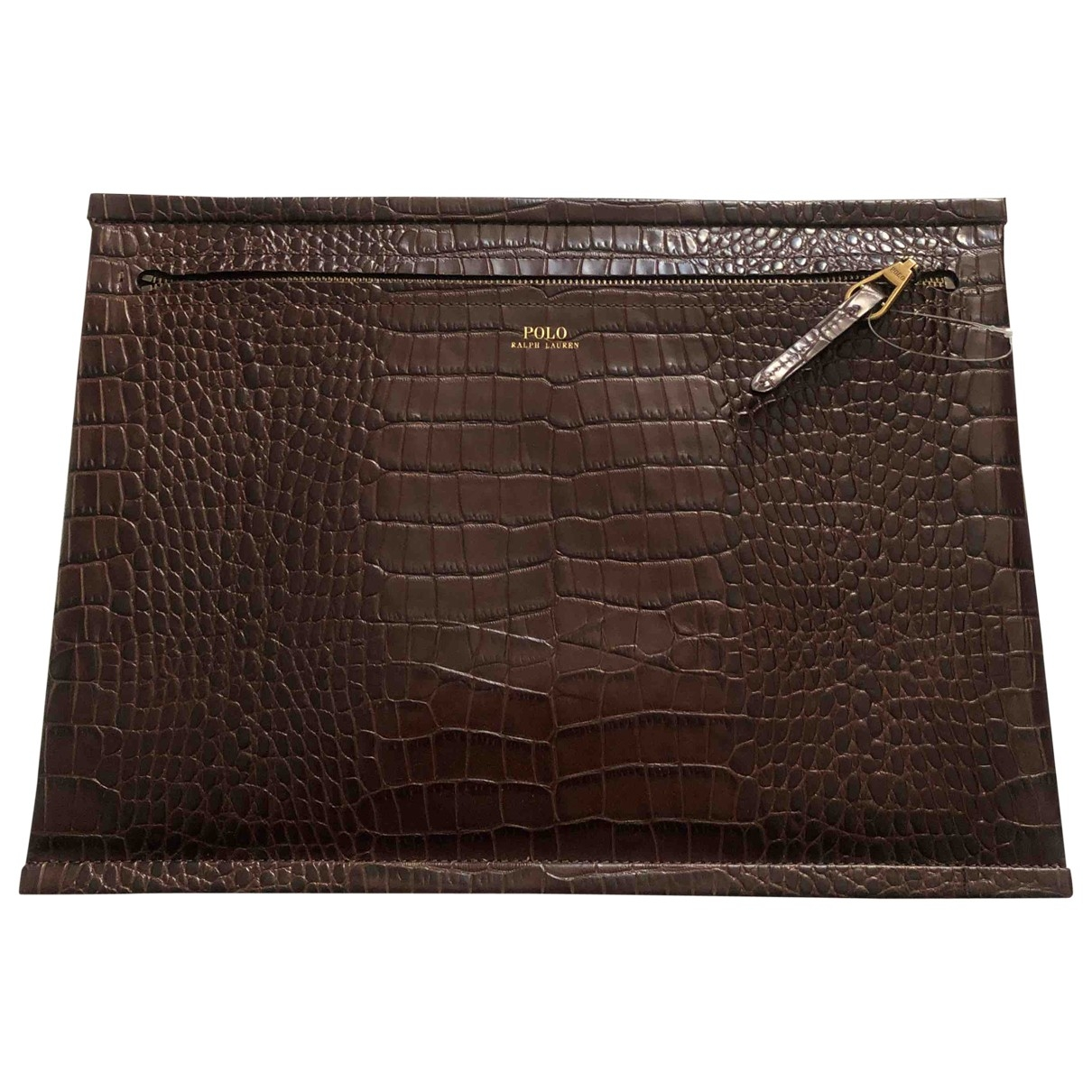 Polo Ralph Lauren - Petite maroquinerie   pour femme en cuir - marron