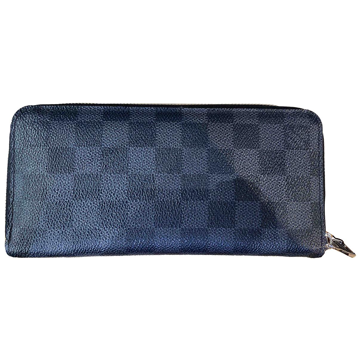 Louis Vuitton \N Kleinlederwaren in  Anthrazit Leinen