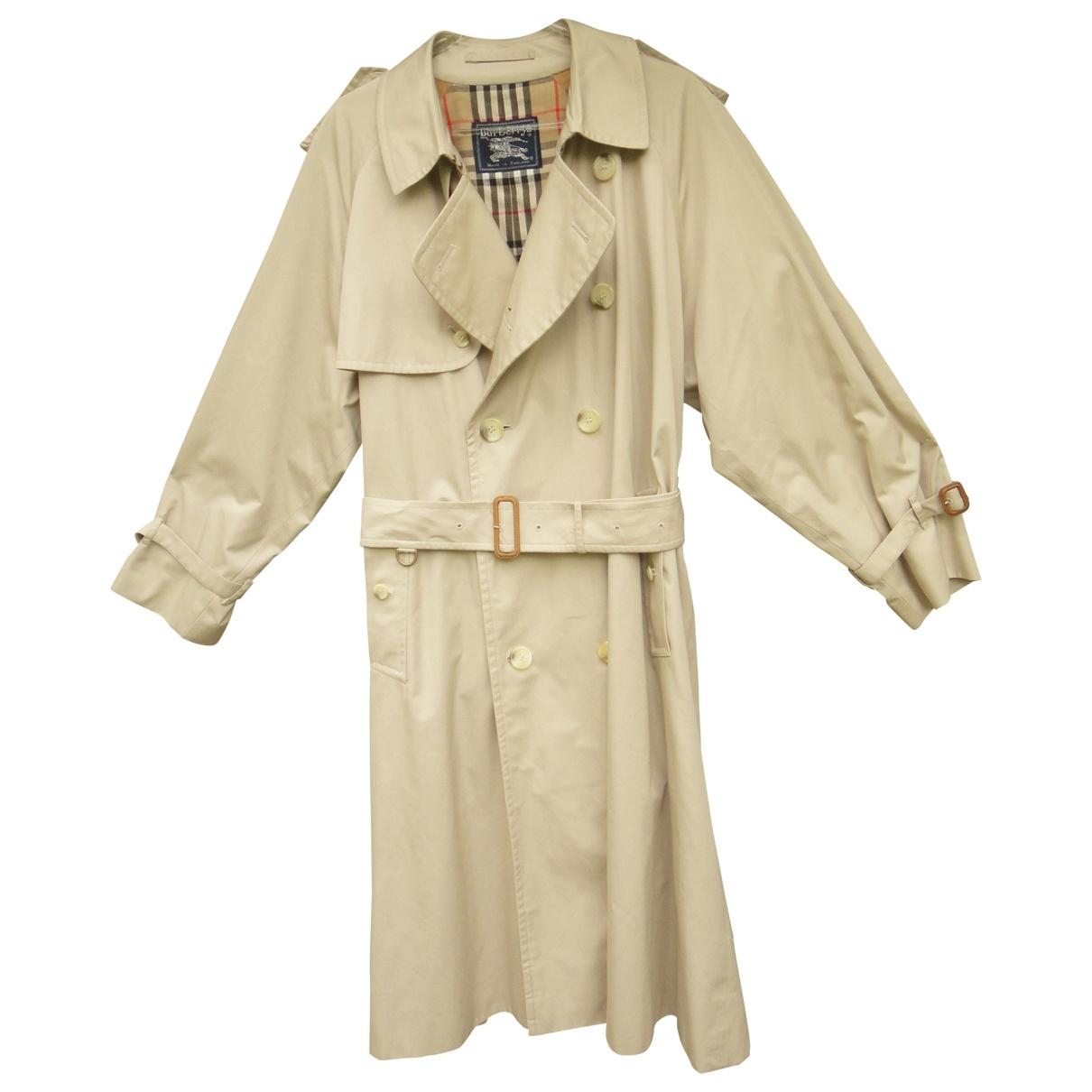 Burberry \N Beige Cotton coat  for Men 50 FR