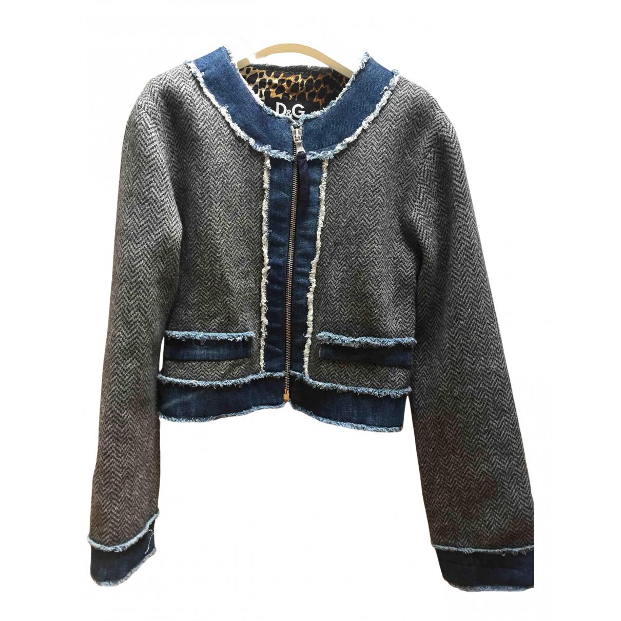 D&g - Blousons.Manteaux   pour enfant en laine - gris