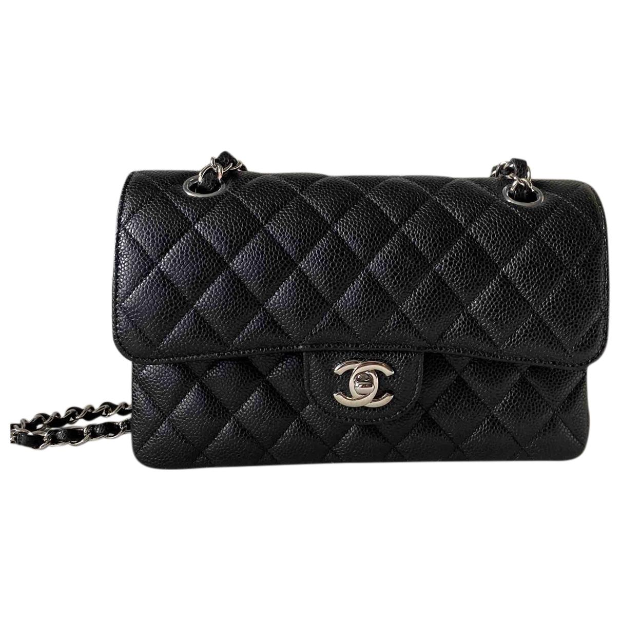 Chanel Timeless/Classique Black Leather handbag for Women \N