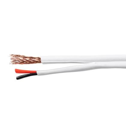 MonoPrice® Bare Copper RG59 with 2x18AWG Power,CM Rated- White