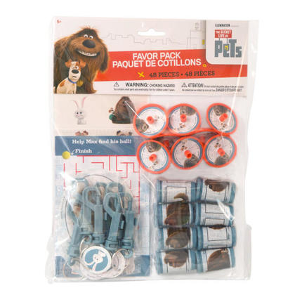 The Secret Life of Pets 1 Favor Pack 48 pcs. For Birthday Party