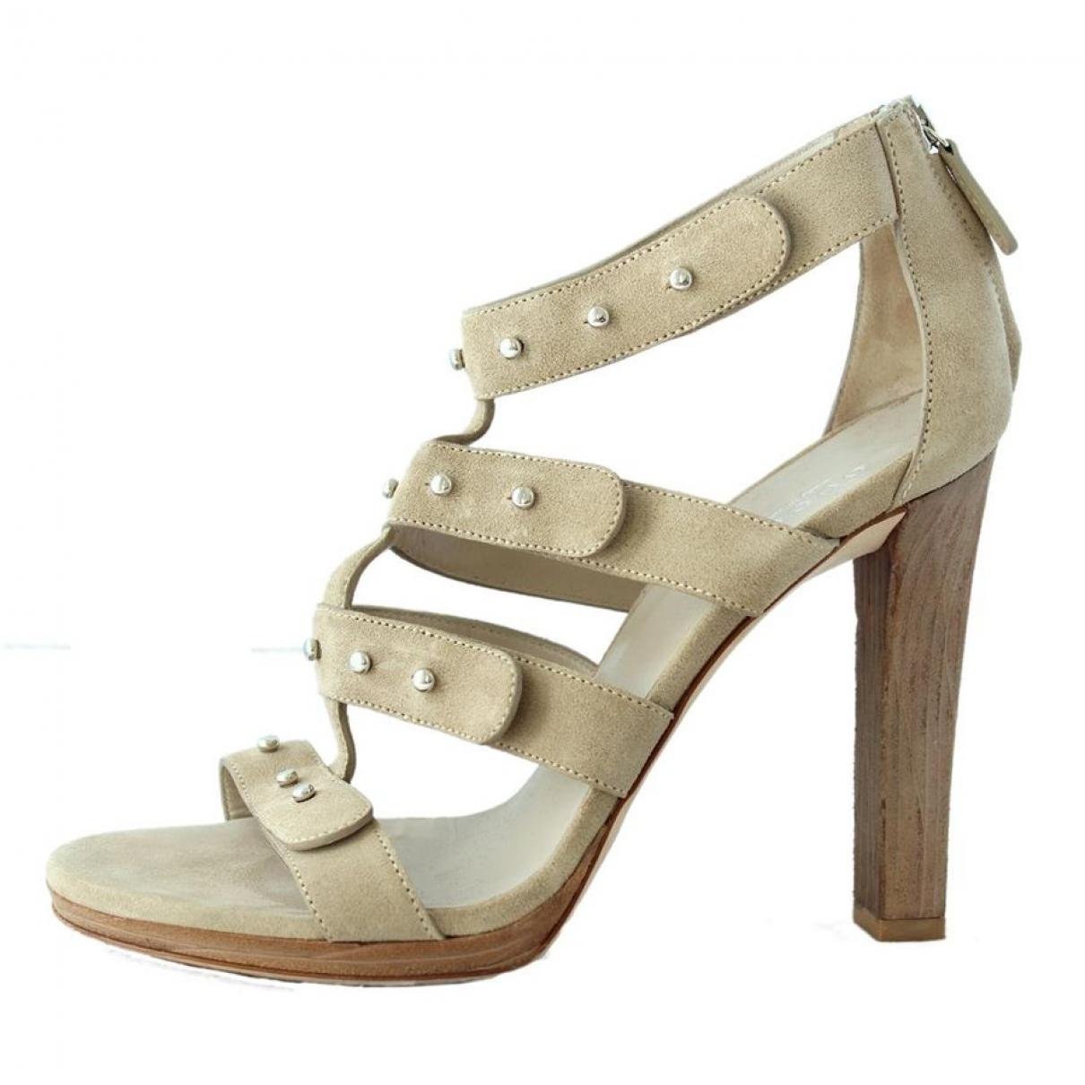 Gucci - Sandales   pour femme en suede - beige
