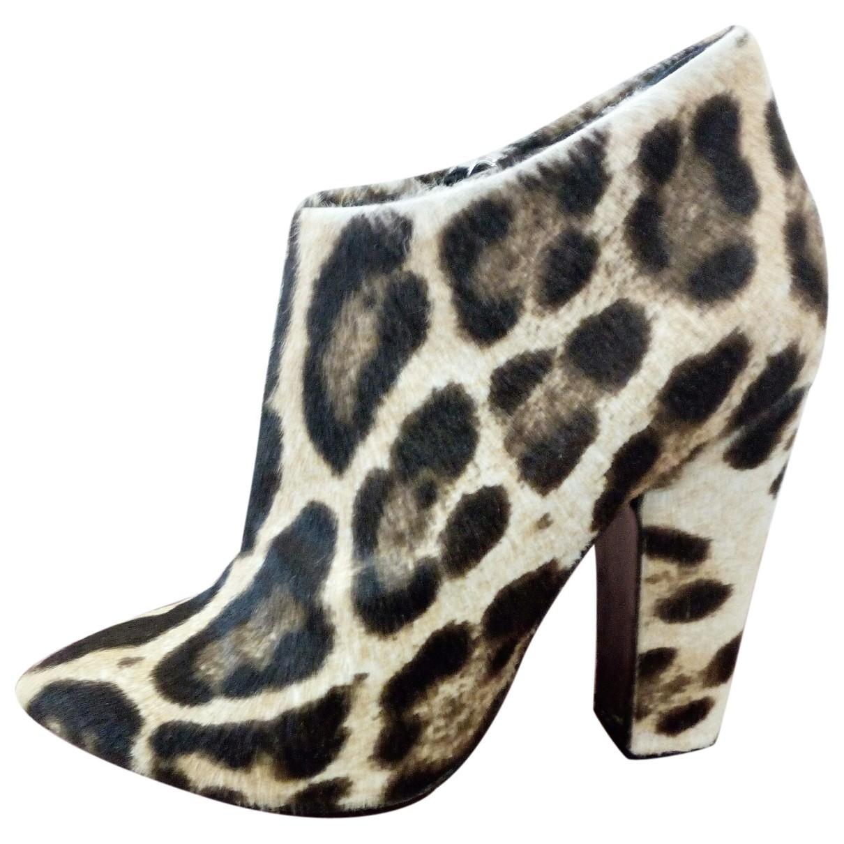 Giuseppe Zanotti - Boots   pour femme en veau facon poulain - multicolore