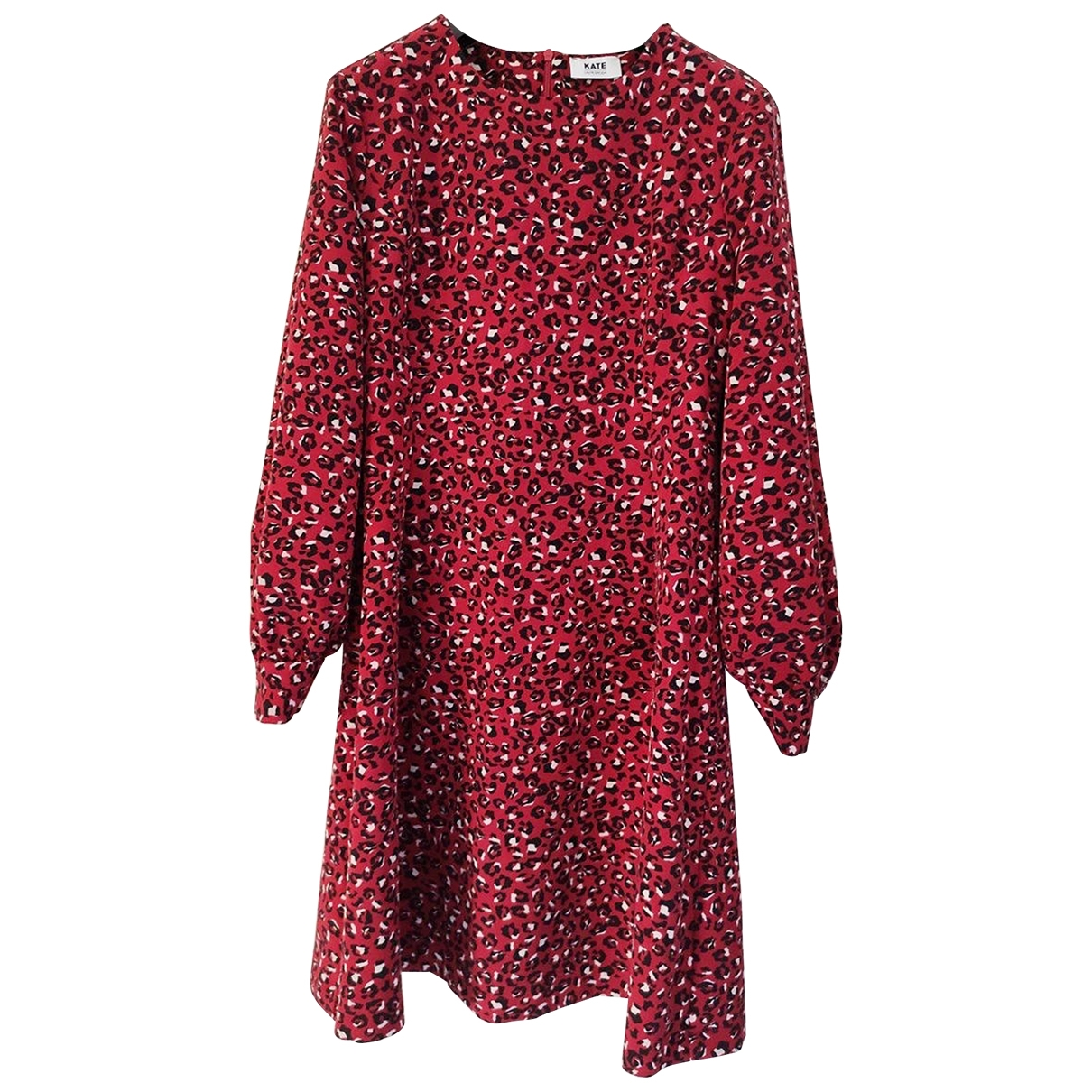 Non Signé / Unsigned Manche ballon Red dress for Women 42 IT