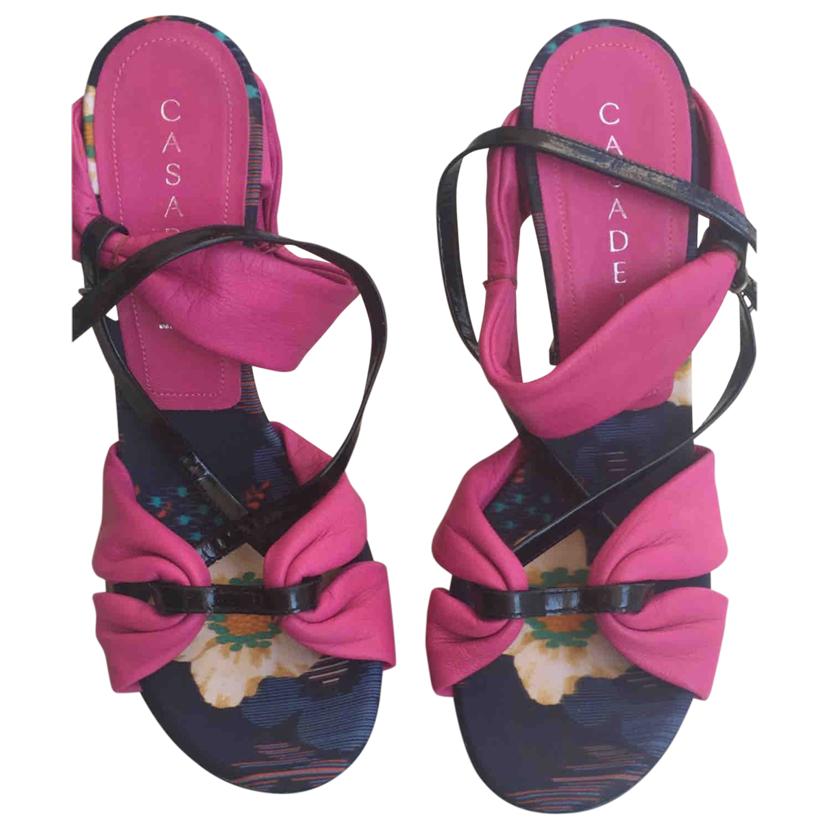Casadei \N Pink Leather Sandals for Women 38 EU