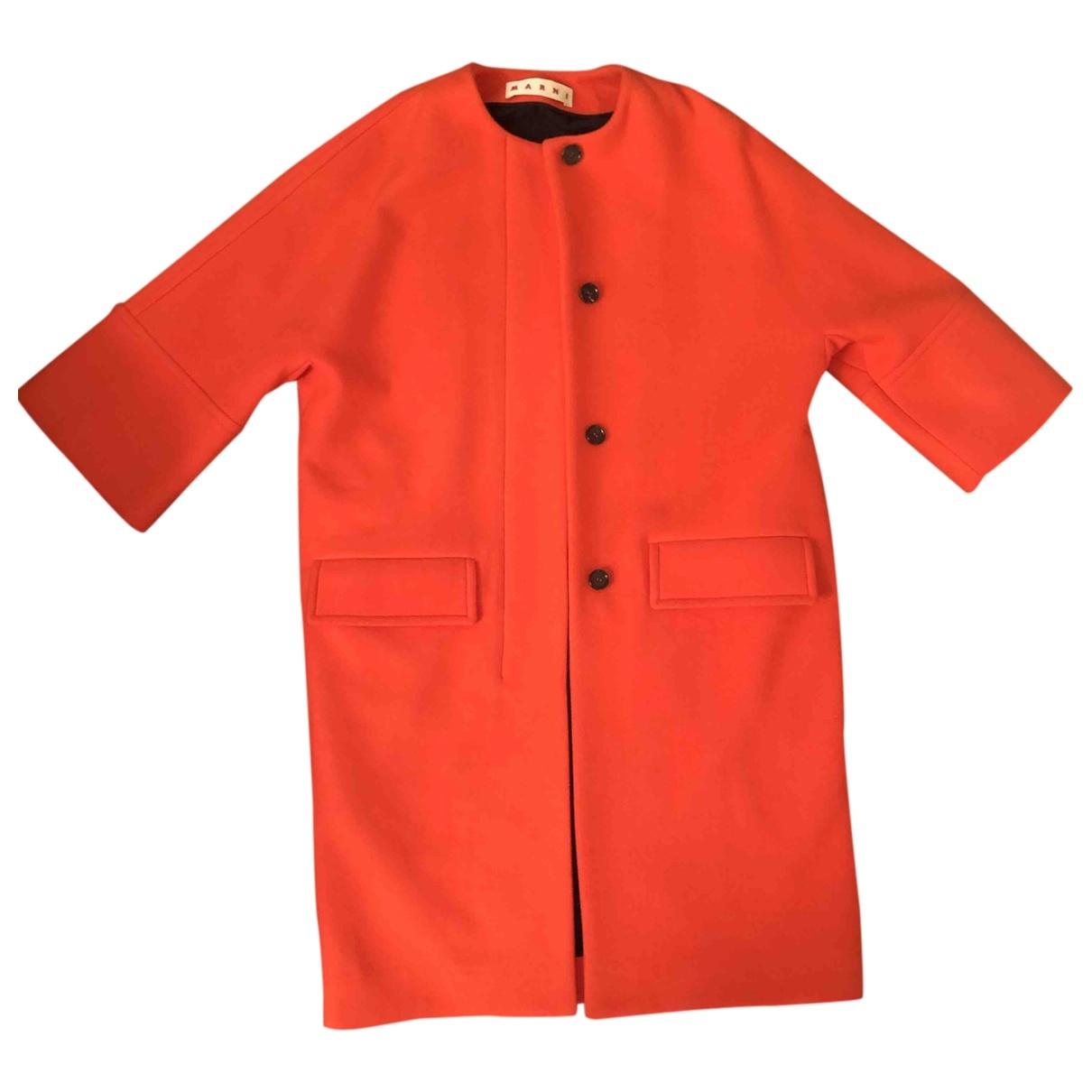 Marni \N Orange Wool coat for Women 40 IT