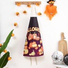 Halloween Pumpkin Print Apron