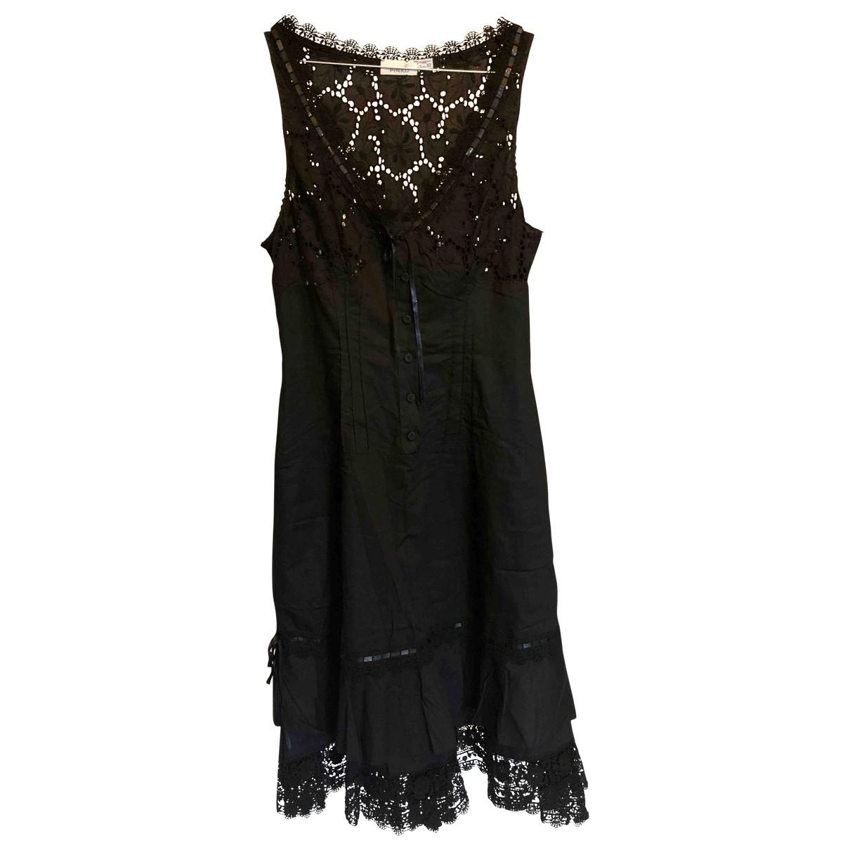 Pinko \N Black Cotton dress for Women 38 FR
