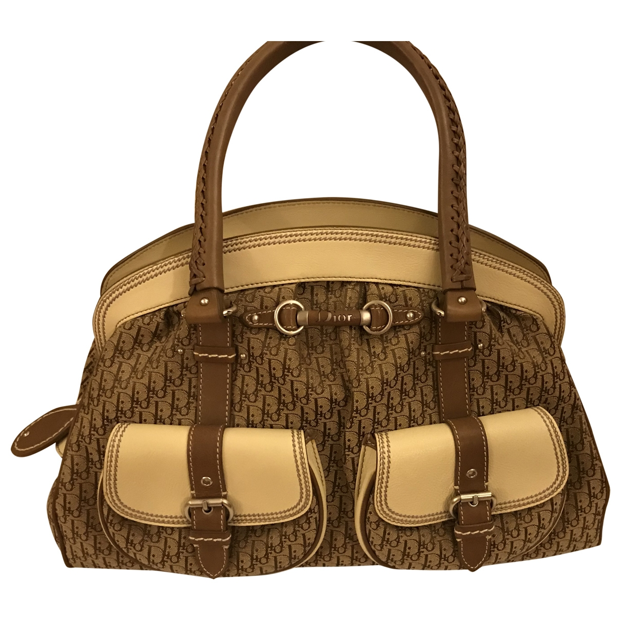 Dior \N Camel Cloth handbag for Women \N