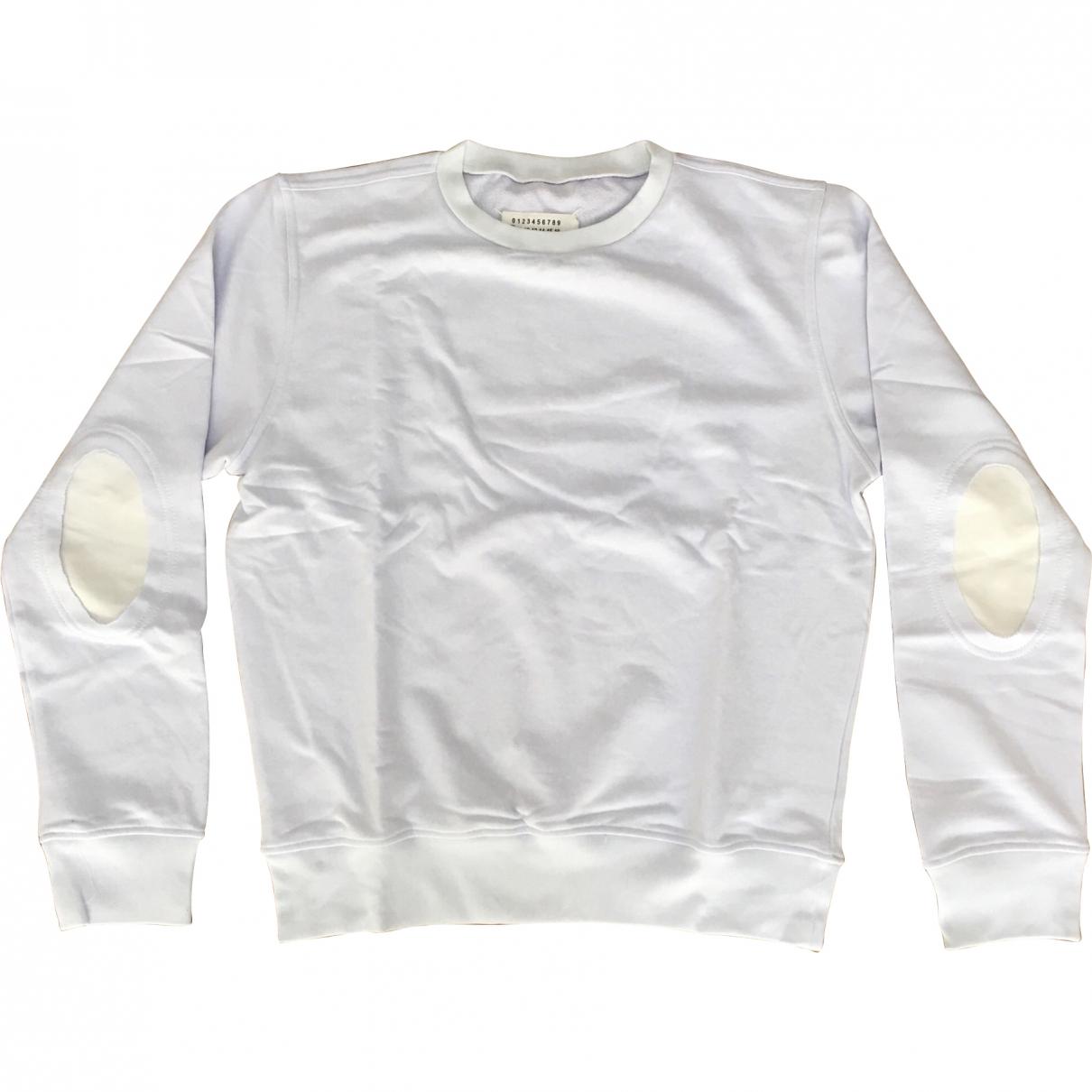 Maison Martin Margiela \N Pullover.Westen.Sweatshirts  in  Weiss Baumwolle