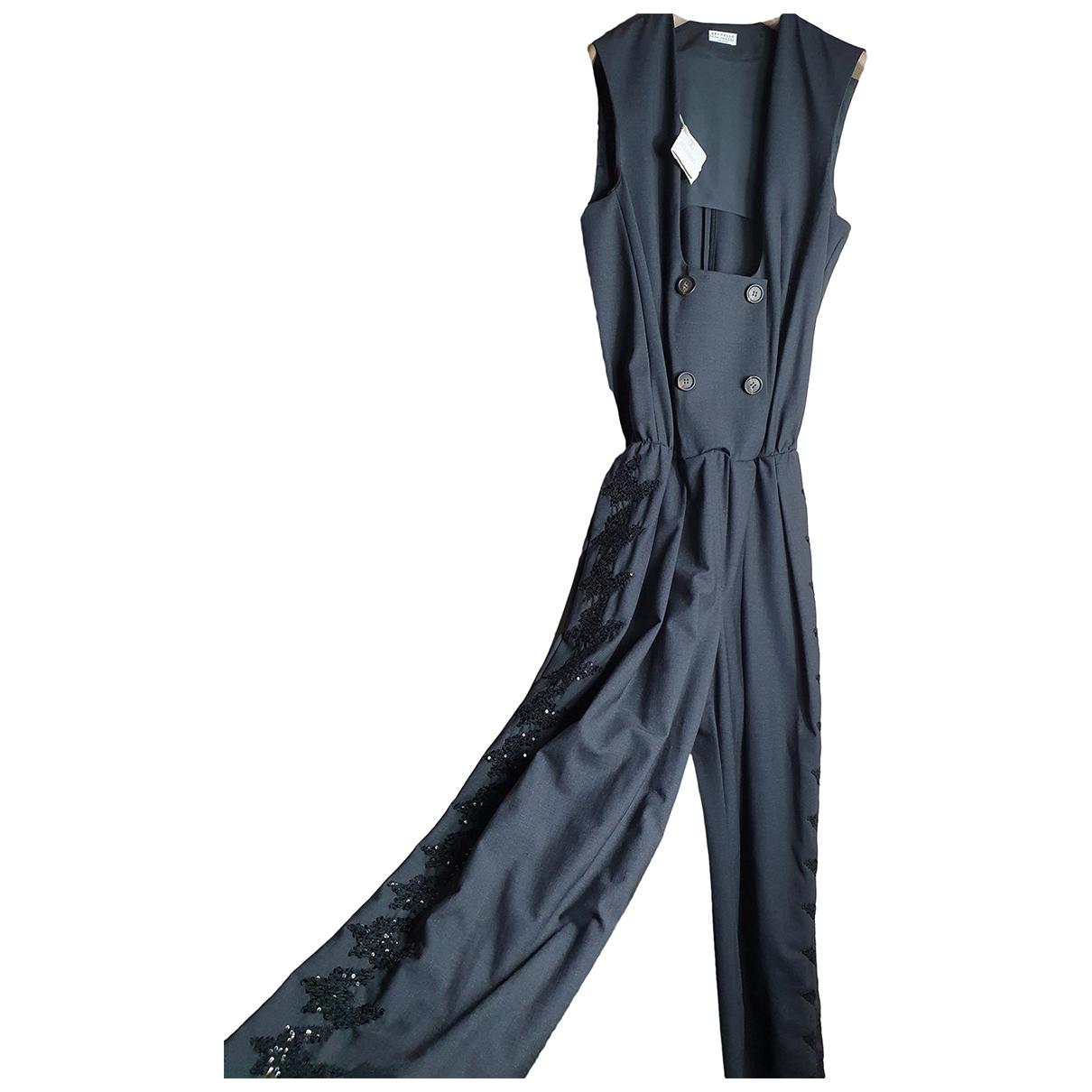 Brunello Cucinelli \N Jumpsuit in  Grau Wolle