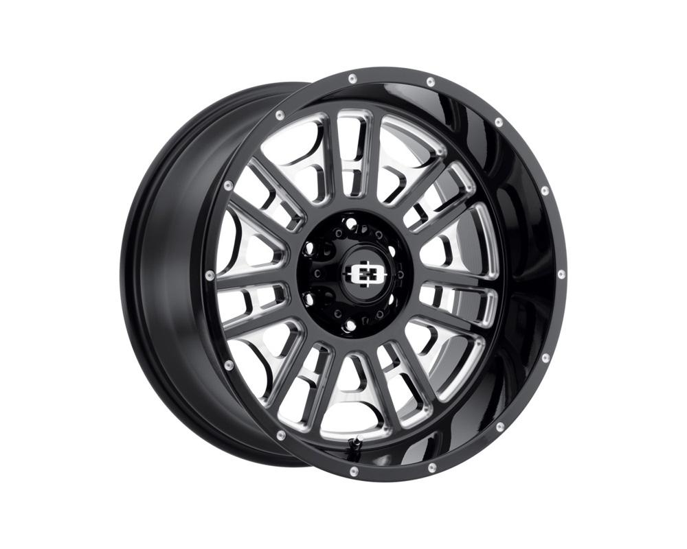 Vision Widow Gloss Black Milled Spokes Wheel 20x12 5x127 -51