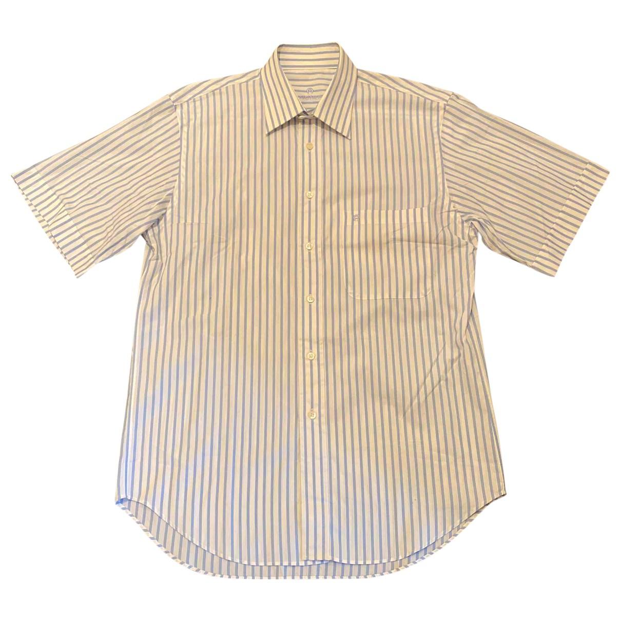 Aigner - Chemises   pour homme en coton - bleu