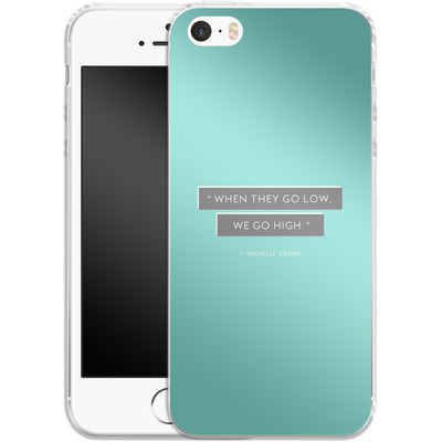 Apple iPhone SE Silikon Handyhuelle - Aim High von caseable Designs
