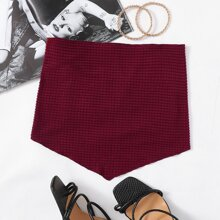 Tie Back Textured Knit Bandana Top