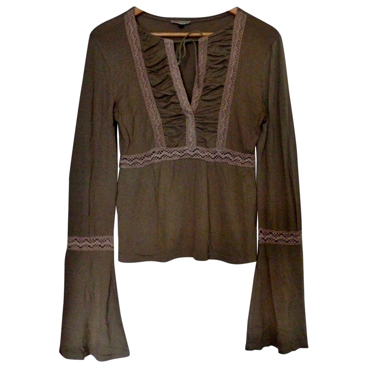 Non Signé / Unsigned \N Brown Cotton  top for Women 2 0-5