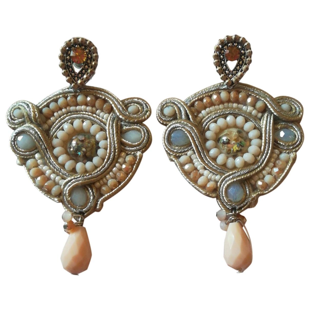 Reminiscence \N Beige Pearls Earrings for Women \N