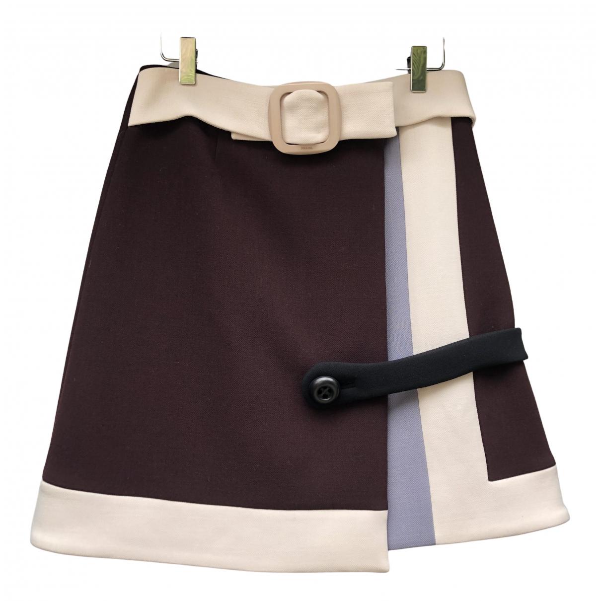 Prada \N Burgundy Wool skirt for Women 40 IT