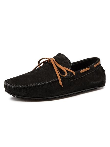 Milanoo Mocasines para hombre Mocasines Zapatos nauticos Zapatos de conduccion sin cordones