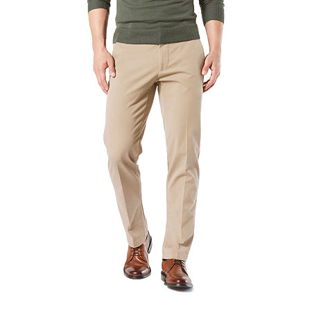 Dockers Men's Straight Fit Workday Khaki Smart 360 Flex Pants D2, 36 32, Beige