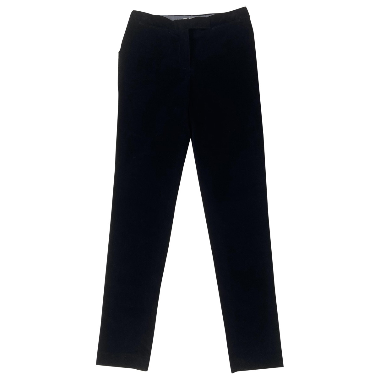 Miu Miu \N Black Velvet Trousers for Women 38 IT