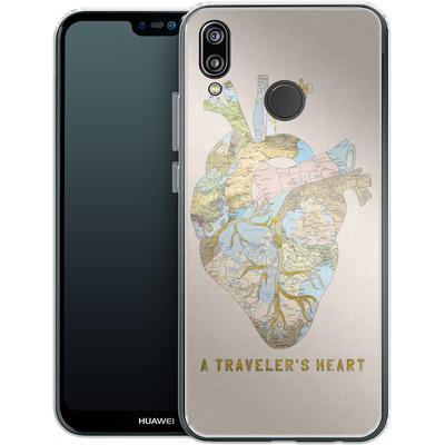 Huawei P20 Lite Silikon Handyhuelle - A Travelers Heart von Bianca Green