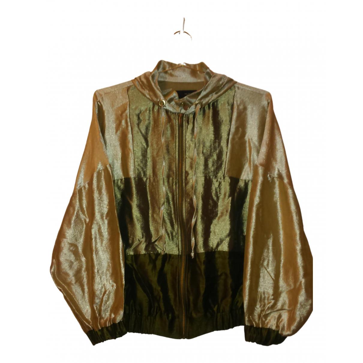 Zara \N Jacke in  Metallic Viskose