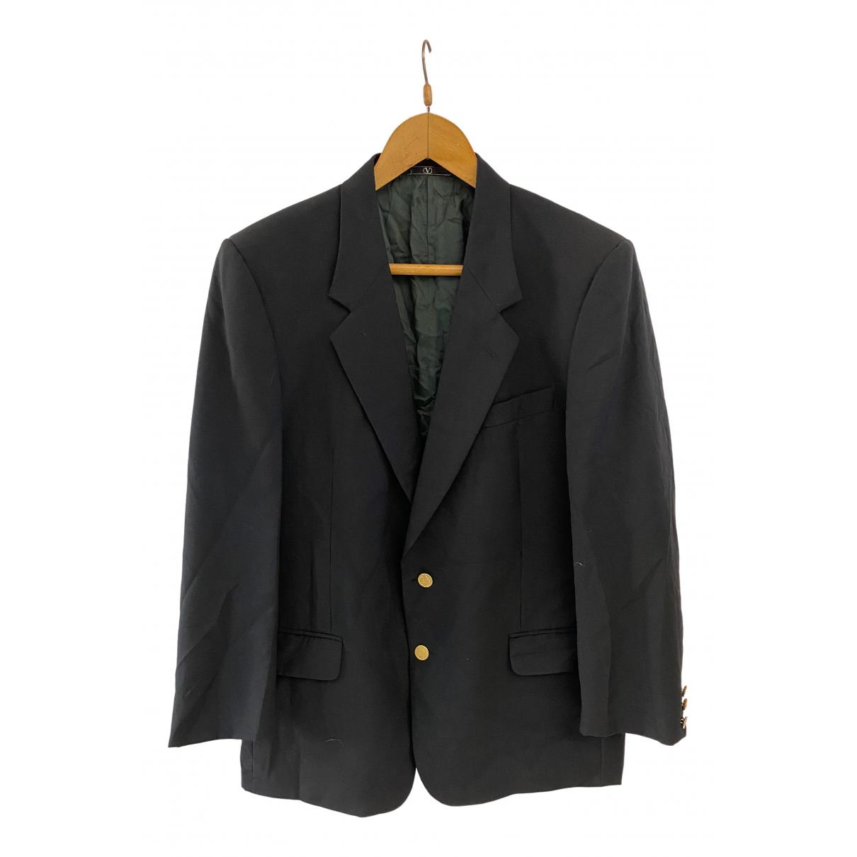 Valentino Garavani \N Black Wool jacket  for Men 52 IT