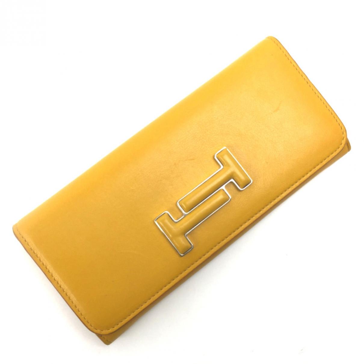 Tods \N Portemonnaie in  Gelb Leder