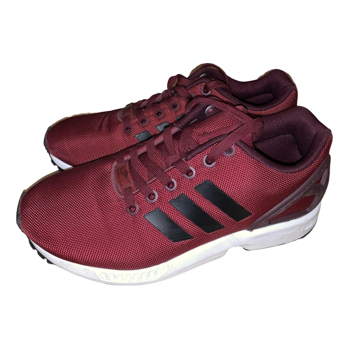Adidas ZX Sneakers in  Bordeauxrot Kunststoff