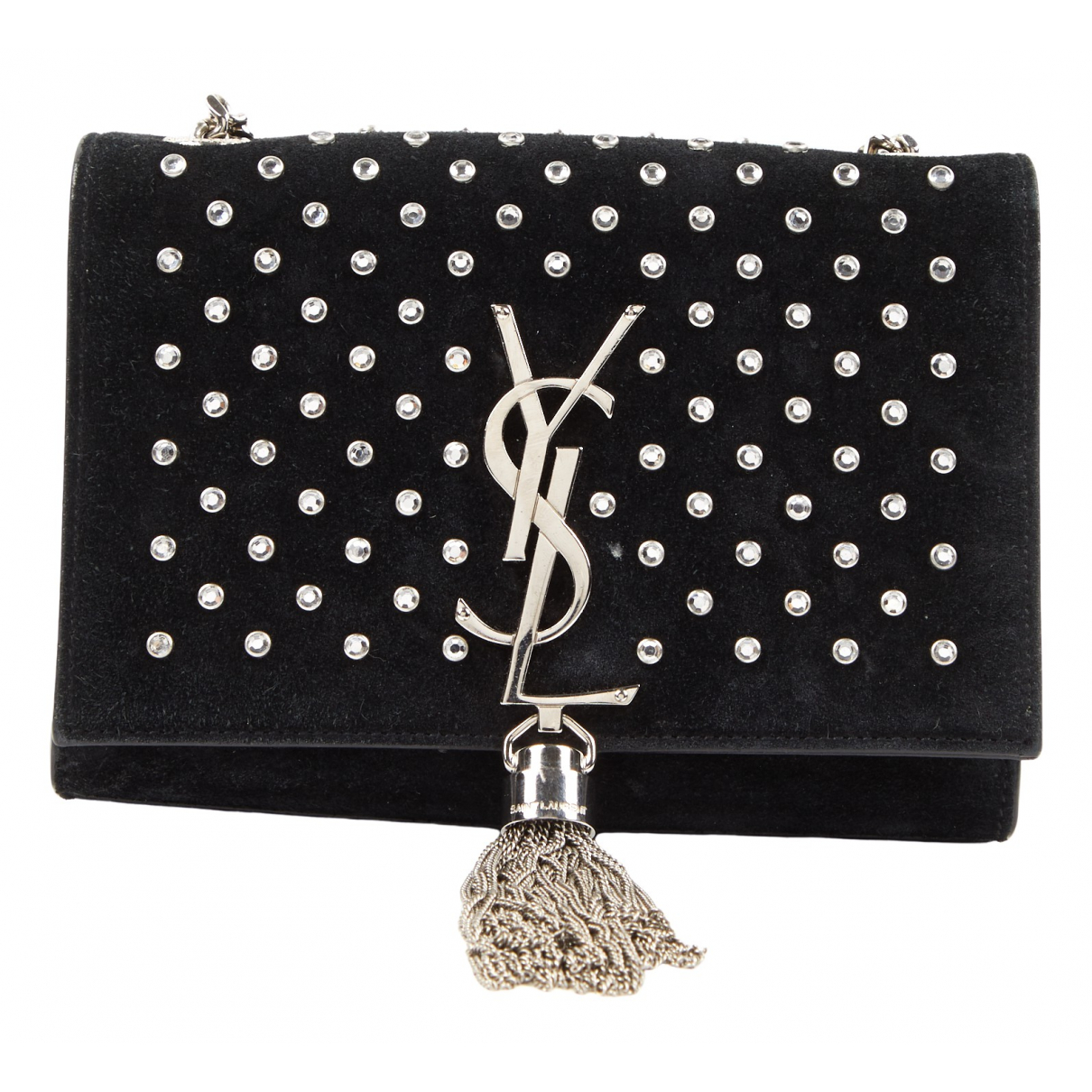 Saint Laurent \N Handtasche in  Schwarz Veloursleder