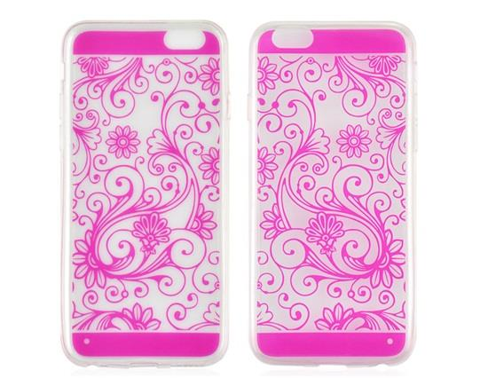 Angibabe Ultra-thin Floral Print TPU Rubber Case for 5.5