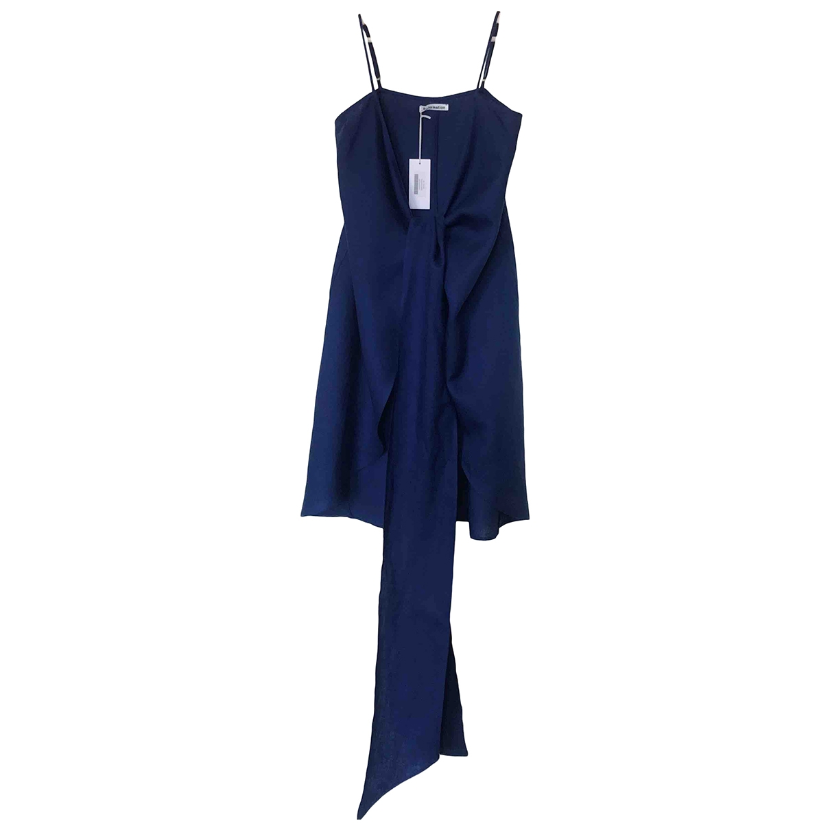 Reformation - Robe   pour femme en lin - bleu