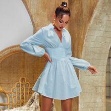Glamaker Einfarbiges Kleid mit Empire Taille