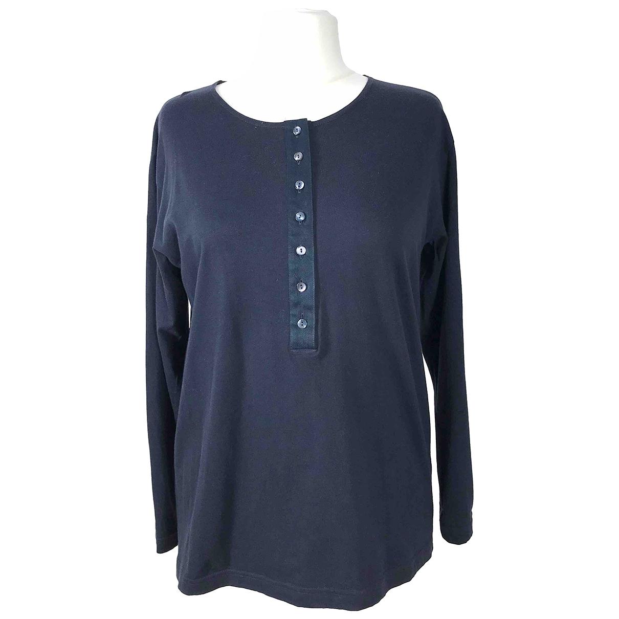 Genny \N Blue Cotton  top for Women 48 IT