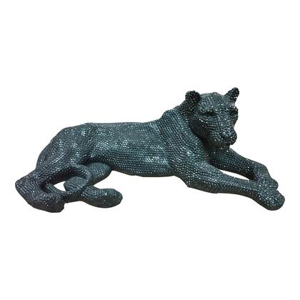 Panthera Collection LA-1059-02 Statue with Polyresin Material in Black