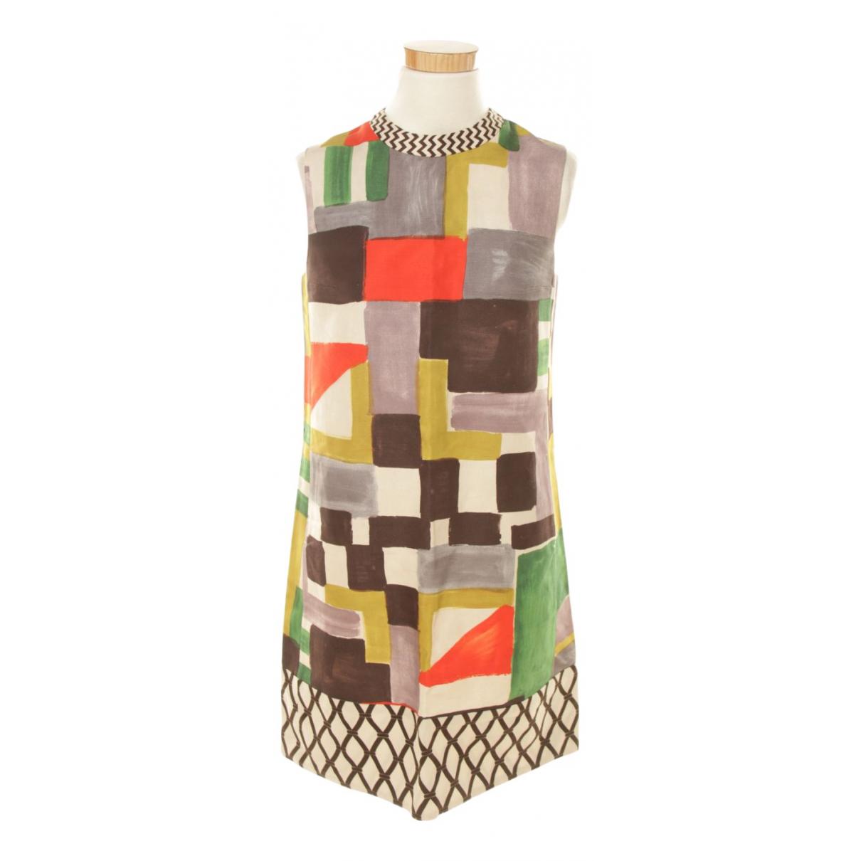 Max Mara 's N Multicolour Linen dress for Women 36 FR
