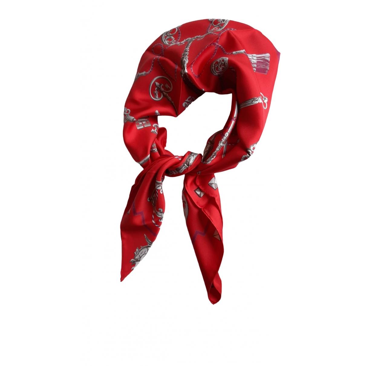 Hermes - Foulard Gavroche 45 pour femme en soie - rouge