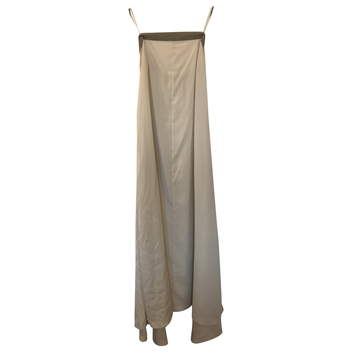 Brunello Cucinelli \N Kleid in  Weiss Seide