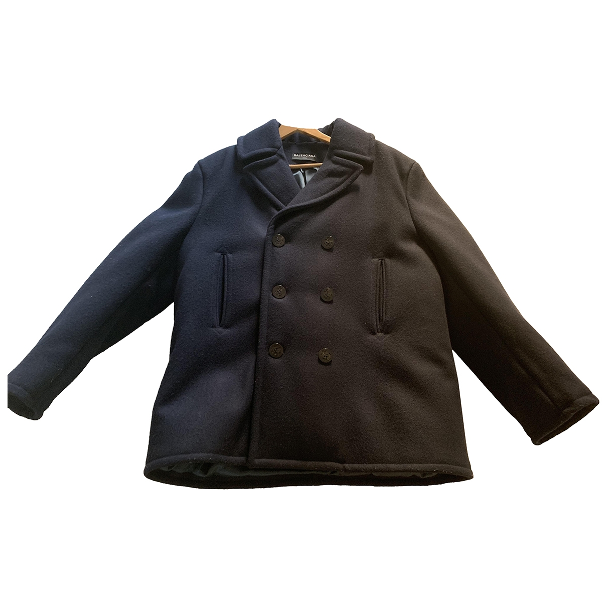 Balenciaga \N Navy Wool coat  for Men L International