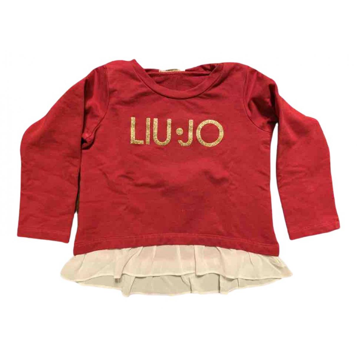 Liu.jo - Pull   pour enfant en coton - rouge
