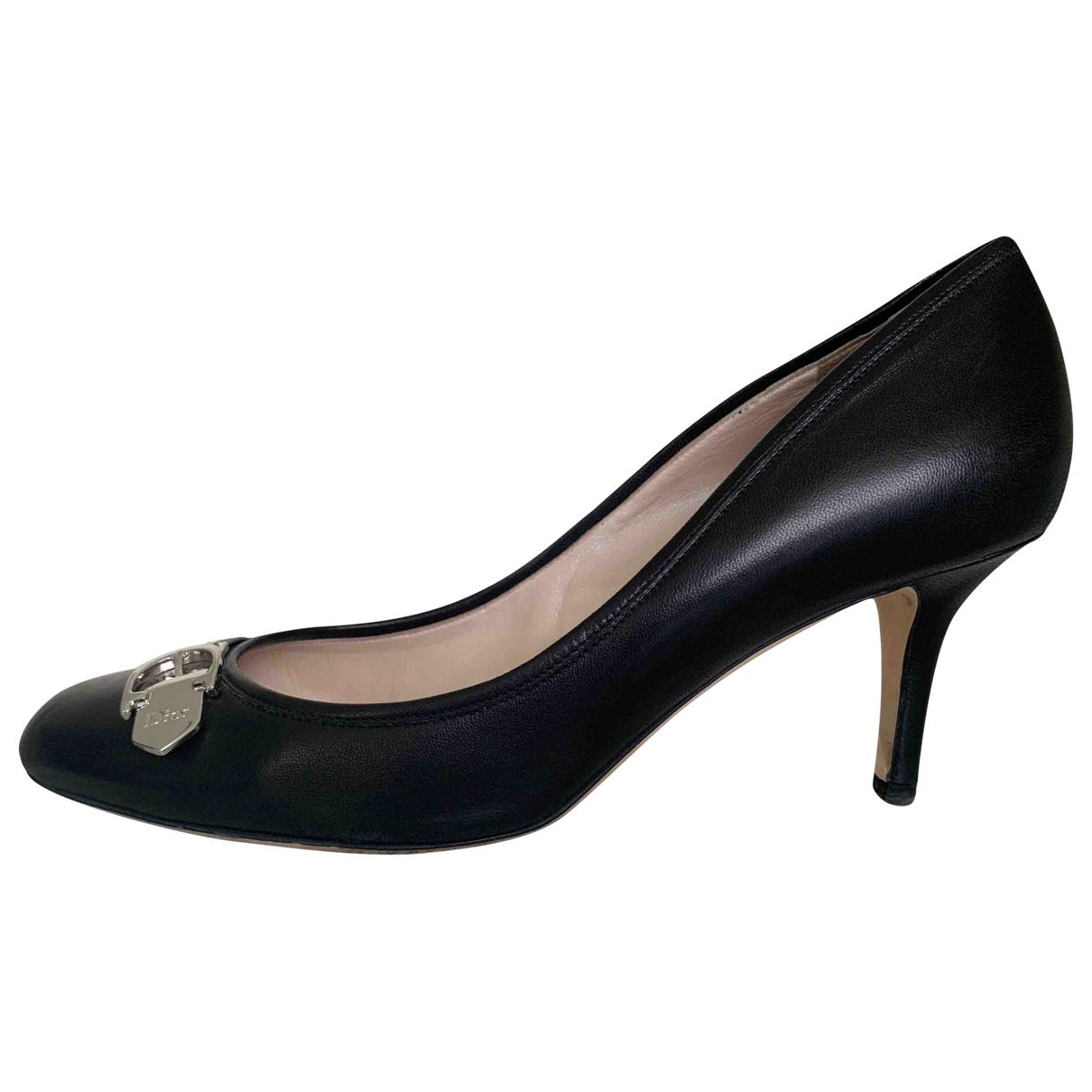 Dior \N Black Leather Heels for Women 39 EU