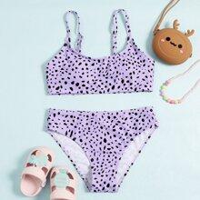 Bikini Badeanzug mit Dalmatiner Muster