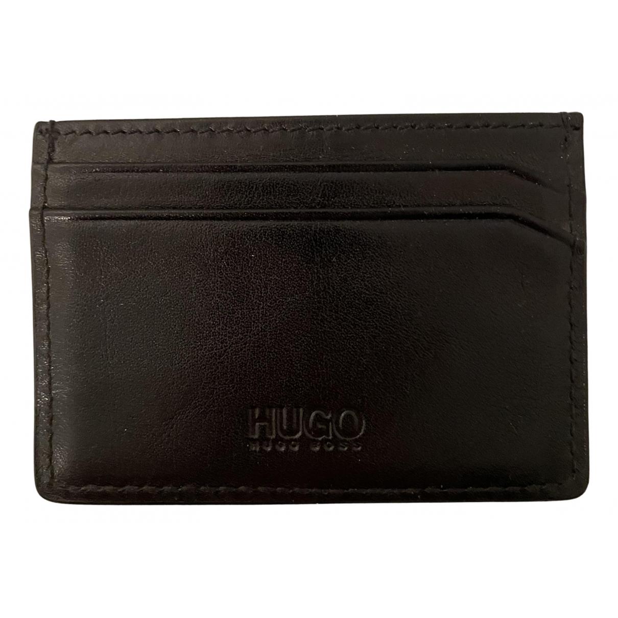 Hugo Boss \N Kleinlederwaren in  Schwarz Leder
